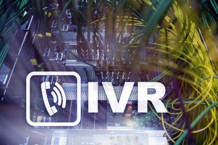 IVR Interactive voice response communication concept.