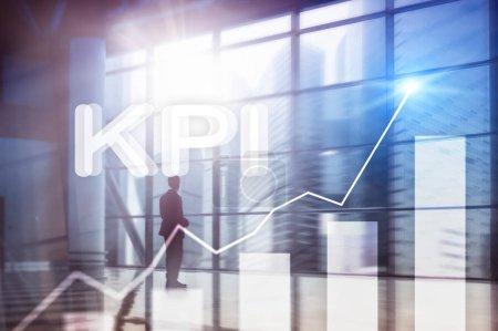 Photo for KPI - Key performance indicator graph on blurred background. - Royalty Free Image