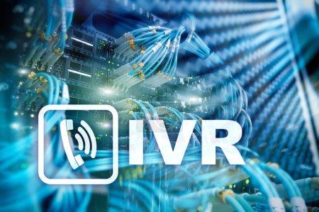 Photo pour Concept de communication interactif IVR voix réaction. - image libre de droit