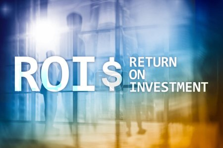 Photo for ROI - Return on investment, Financial market and stock trading concept. - Royalty Free Image