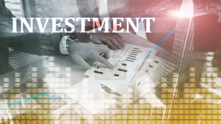 Photo for Investment, ROI, financial market concept. - Royalty Free Image
