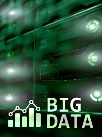Photo for Big data analysing server. Internet and technology. - Royalty Free Image