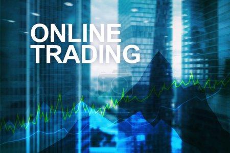 Photo pour Trading en ligne, Forex, investissement et concept de marché financier - image libre de droit