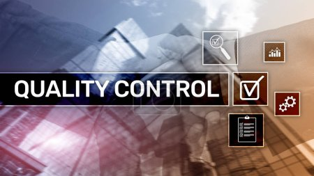 Photo pour Contrôle de la qualité et l'assurance. Normalisation. Garantie. Normes. Concept d'affaires et de la technologie - image libre de droit