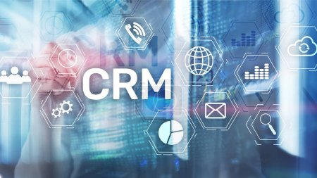 Photo for Business Customer CRM Management Analysis Service Concept. Relationship Management - Royalty Free Image