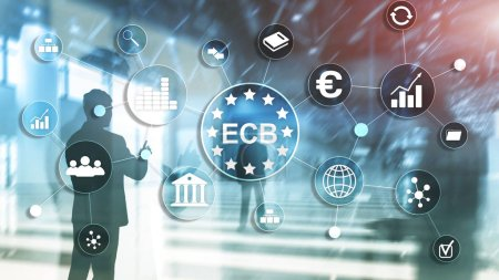 Photo pour BCE Banque centrale européenne Concept de financement des entreprises - image libre de droit