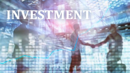 Photo pour Investissement, ROI, concept de marché financier - image libre de droit