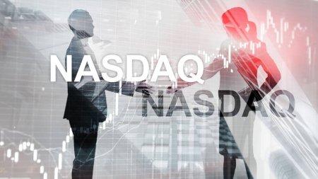 Photo pour Nasdaq Stock Market Finance Concept. Crise du marché - image libre de droit