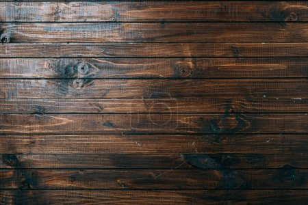 Photo for Top view of aged wooden planks surface for background - Royalty Free Image
