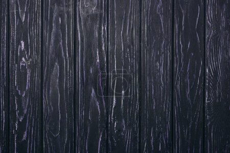 Photo for Top view of black wooden planks surface for background - Royalty Free Image