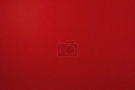 Photo for Top view of red template with tiny white polka dot pattern for background - Royalty Free Image