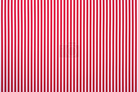 top view of white and red striped surface for background