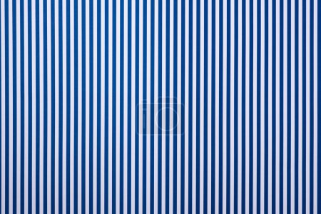 top view of white and blue striped surface for background