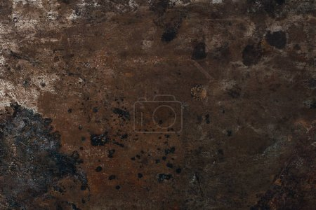 top view of rusted metal surface for background