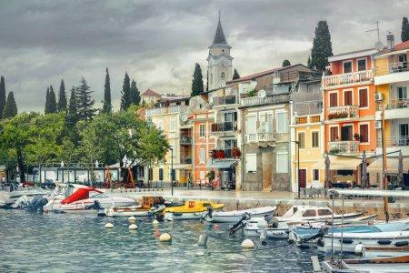 Photo for Cityscape of coastal resort town Selce near Crikvenica. Istria, Croatia - Royalty Free Image