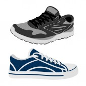 Sneakers in vector on white backgroundSneakers vector illustration