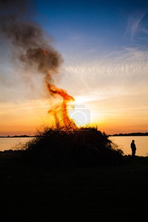 people celebrating Walpurgis Night in Sweden
