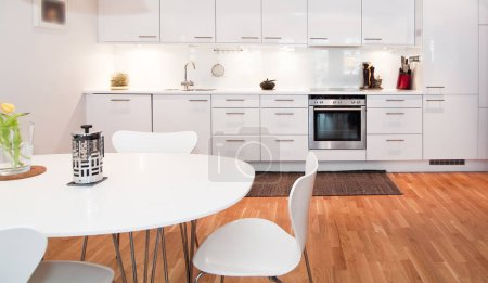 Photo for Modern kitchen interior on background - Royalty Free Image