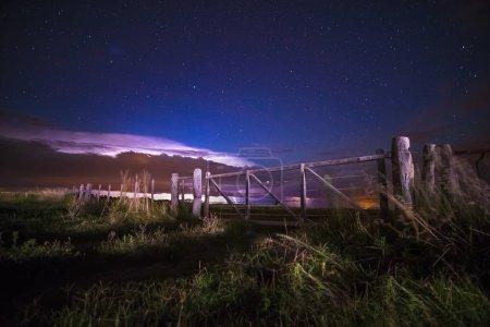 Pampas landscape at night, Argentina
