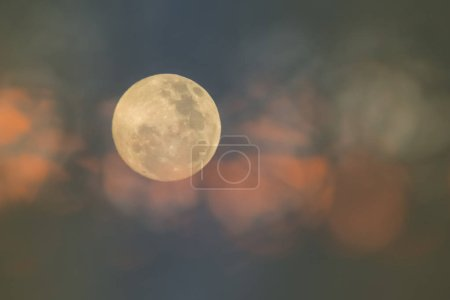 abstract full moon on sky background