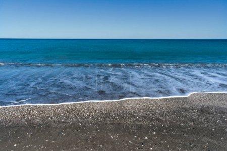 Photo pour Shell Beach, San Antonio East Harbor, Rio Negro, Patagonie Argen - image libre de droit