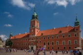 Panoramic view of Warsaw in the afternoon in Poland. July 20 2018