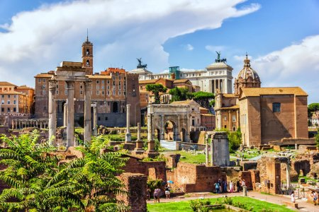 Roma Forum ruins, view on: the House of the Vestal...