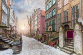 Mariacka street, a famous old european street in Gdansk, Poland, no people