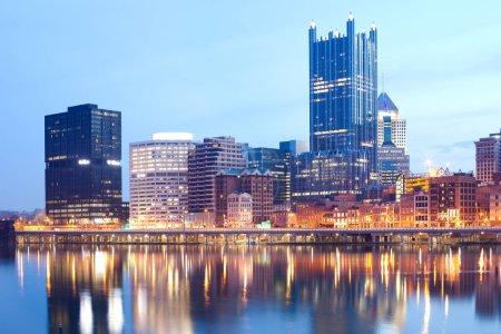 Monongahela River and downtown skyline, Pittsburgh, Pennsylvania, USA