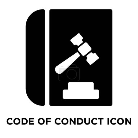 Illustration for Code of conduct icon vector isolated on white background, logo concept of Code of conduct sign on transparent background, filled black symbol - Royalty Free Image