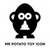 Mr potato toy icon vector isolated on white background logo concept of Mr potato toy sign on transparent background filled black symbol