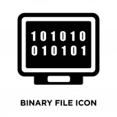 Binary file icon vector isolated on white background logo concept of Binary file sign on transparent background filled black symbol