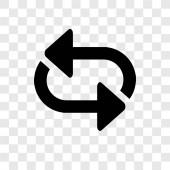 Shuffle Arrows vector icon isolated on transparent background Shuffle Arrows transparency logo concept
