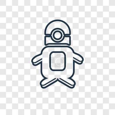 Illustration for Minion icon in trendy design style. minion icon isolated on transparent background. minion vector icon simple and modern flat symbol for web site, mobile, logo, app, UI. minion icon vector illustration, EPS10. - Royalty Free Image