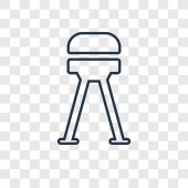 stool icon in trendy design style stool icon isolated on transparent background stool vector icon simple and modern flat symbol for web site mobile logo app UI stool icon vector illustration EPS10