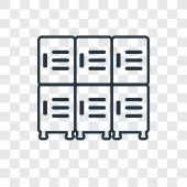 lockers icon in trendy design style. lockers icon isolated on transparent background. lockers vector icon simple and modern flat symbol for web site, mobile, logo, app, UI. lockers icon vector illustration, EPS10.