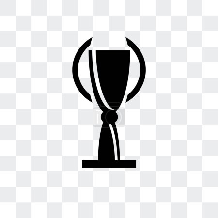 Trophy vector icon isolated on transparent backgro...