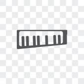 Keytar vector icon isolated on transparent background Keytar lo