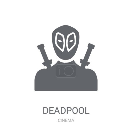 deadpool icon Trendy deadpool logo