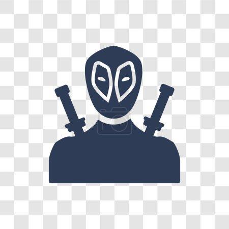 значок Дэдпул модным логотипом Дэдпул