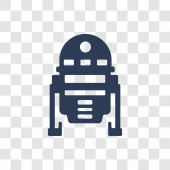 R2D2 icon Trendy R2D2 logo concept on transparent background from Cinema collection