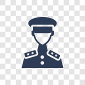 lieutenant icon Trendy lieutenant logo concept on transparent background from army and war collection