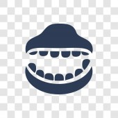 Denture icon Trendy Denture logo concept on transparent background from Dentist collection