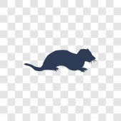 Marten icon Trendy Marten logo concept on transparent background from animals   collection
