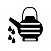 Watering can icon vector isolated on white background Watering can transparent sign  black symbols