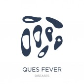 Ques fever icon Trendy flat vector Ques fever icon on white background from Diseases collection vector illustration can be use for web and mobile eps10