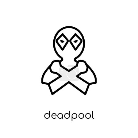 deadpool icon Trendy modern flat
