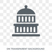 Capitol icon Trendy flat vector Capitol icon on transparent background from United States of America collection High quality filled Capitol symbol use for web and mobile