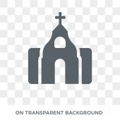 Monastery icon Trendy flat vector Monastery icon on transparent background from Religion collection High quality filled Monastery symbol use for web and mobile