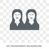 Twins icon Trendy flat vector Twins icon on transparent background from People collection High quality filled Twins symbol use for web and mobile